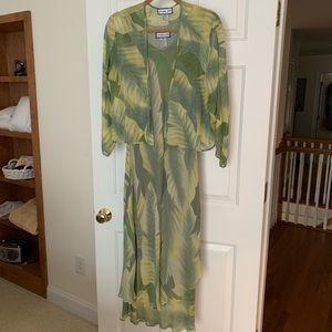 Tea length silk dress